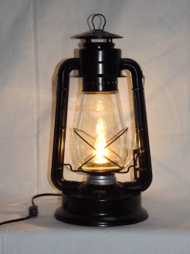 Dietz Blizzard 'Collector Style' Electric Lantern Table Lamp - Black