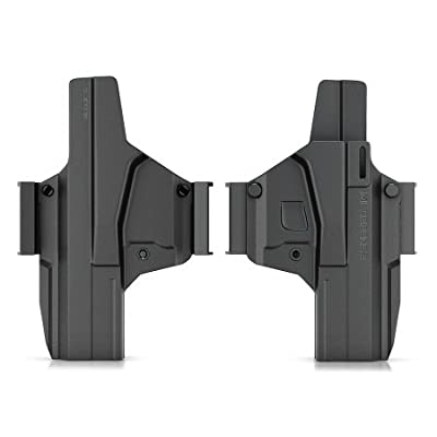 New IMI Defense Z8026 Revolutionary Morf X3 Tactical Polymer IWB & OWB Holster Interchangeable Transform Paddle / Belt Right & Left Hand For Glock 26 Gen 4 Compatible