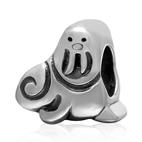 Lion Sea Charm (925 Solid Sterling Silver Sea Lion Charm Bead)