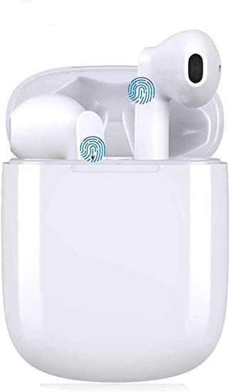 Auriculares inalámbricos Bluetooth 5.0, micrófono Incorporado y Caja de Carga,Cuffie Wireless Stereo 3D with IPX7 Impermeabile, adecuados para Auriculares iPhone Airpods Samsung Huawei: Amazon.es: Electrónica