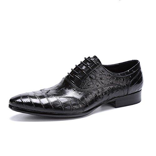 Oxford Shoes Maschi Estate Moda Casuale Indossabile Comodo Elegante All'aperto Traspirante, Scarpe di Cuoio Black