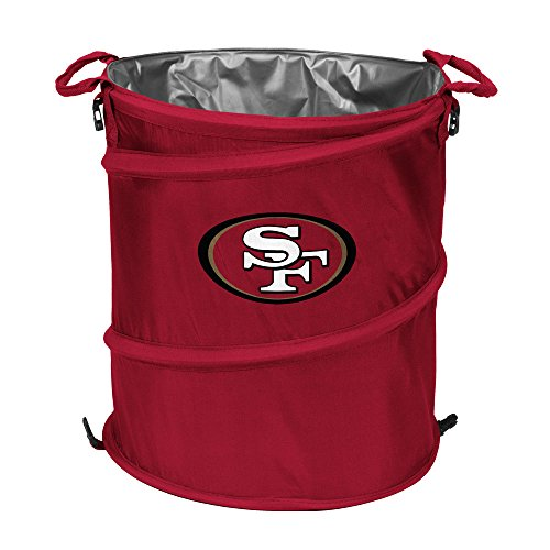 NFL Team Logo 3-in-1 Beverage Cooler, Laundry Hamper and Trash Can - All 32 Teams to Choose From! (San Francisco (Nfl Beverage Cooler)