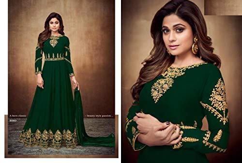 Salwar Ethnic 7546 Bollywood Designer Lunghe Wedding Donne Green Anarkali Kameez Musulmane Indian Abaya Vestono BFq5ptx