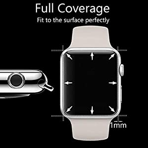 [3PACK] Watch Serie 4 44MM Screen Protector, EcoPestuGo [9H Hardness][Anti-Fingerprint][Anti-Scratch][Ultra-Clear][No Bubble] Tempered Glass Screen Protector Compatible Watch Serie 4 44MM