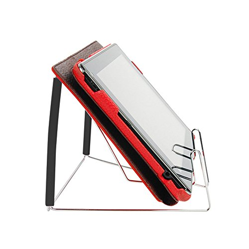 Book Stands,Fold-n-Stow Metal Bookstand,Music Book Easel Display Holder,Adjustable Reading Stand,Small Book Rest for Kitchen Counertops,Bookrest for Hardcover Textbook,Ipad,Document,Cookbook,Recipe by AUS (Image #5)