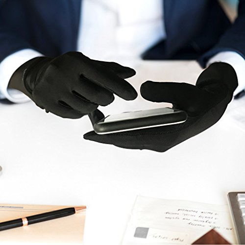 Compression Gloves for Women, Copper Arthritis Gloves Joint Pain,for Carpal Tunnel,Swelling,Typing,Night Time,Black - Medium by OpeCking (Image #4)