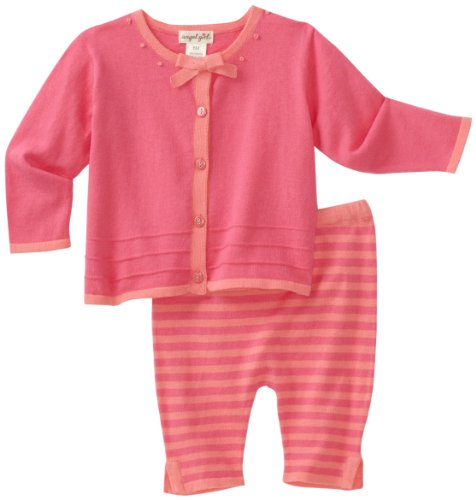 Angel Dear Baby-Girls Newborn Miro Cardie and Capri Sweater