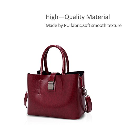 Waterproof Bag Shoulder Messenger Bag amp; Bags Bag Messenger Bag Doris Ladies Crossbody Women Red Nicole Pu Bags Black Shoulder Fashion fa0wvznxq