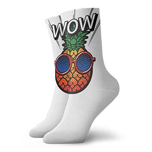 YUANSHAN Socks Wow Cool Pineapple Women & Men Socks Soccer Sock Sport Tube Stockings Length 11.8Inch ()