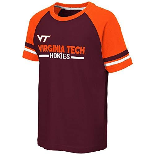 (Colosseum Youth Virginia Tech Hokies Ottawa Raglan Tee Shirt - M)