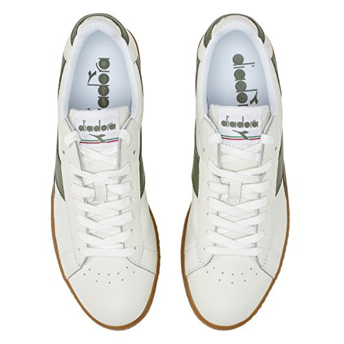 OLIVINA Homme BLANC L de Diadora Bianco Gymnastique Chaussures VERT Game Low C6288 YPOwTRzf