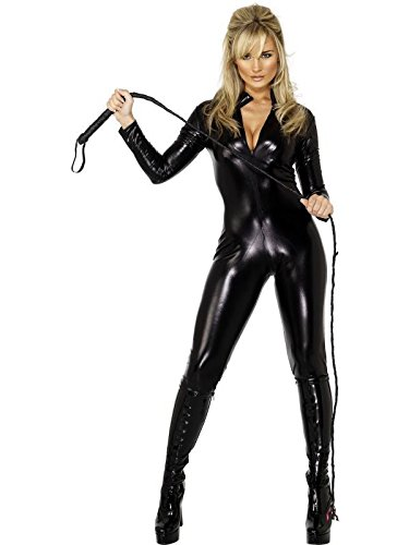 Miss Whiplash Women's Sexy Black Costume, M 10-12