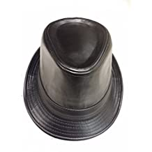 Fedora Hat Men's Indented Crown Gangster Style Brim