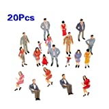 Used, 20pcs Painted Model Train Passenger People Figures for sale  Delivered anywhere in USA