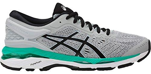 ASICS Women's Gel-Kayano 24 Running Shoe, Mid Grey/Black/Atlantis, 9 Medium US by ASICS (Image #6)