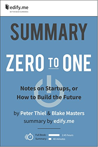 Summary of 'Zero to One' by Peter Thiel & Blake Masters. (2 Summaries in 1: In-Depth Summary and Bonus 2-Page PDF.)