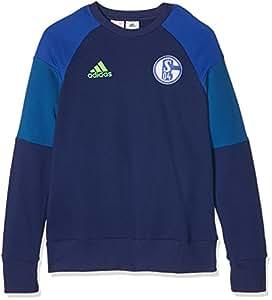 adidas Schalke 04 Swt Top Y Sudadera, Hombre, Azul (Azuosc/Azufue), para niños de 9-10 años