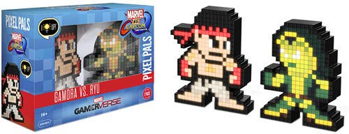 PDP Pixel Pals Marvel vs. Capcom Infinite Gamora vs. Ryu Collectible Figure 2 Pack, 878-042-NA-MvC2 (Characters In Guardians Of The Galaxy 2)