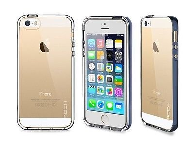 Navy Call LED Flash Clear TPU Back PC Hard Frame Case Cover For iPhone 6