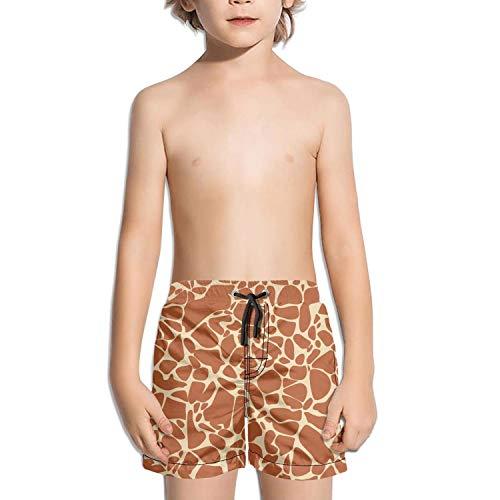 Children Giraffe Fur Animal Skin theam Beach Shorts Swim Trunks Kid Beach Pants]()