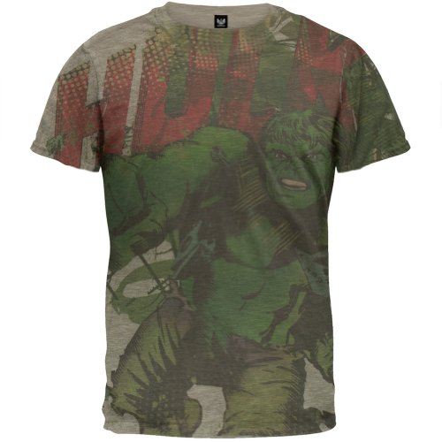 Incredible Hulk - Charge All-over Soft T-Shirt - Small