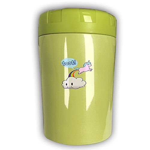 Toot! Unicorn Fart Rainbow Funny Lovely Magical Wyfdongwu Food Jar 16oz Easy To Clean Stainless Steel Pink Green Brown Insulated For Adults
