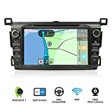 YUNTX Double Din Android 8.1 Car Navigation Stereo 2G/32G Octa-Core Applicable to Toyota RAV4 (2013-2015)-8 inch Support Rear Backup Camera,LCD Touchscreen,WiFi/BT,SD Card,USB, AM/FM Radio Receiver