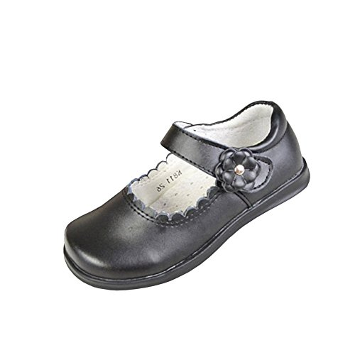 Lisianthus Kid's Uniform Flat Little Girls Mary Jane Leather Shoes Size 2M (Campus 2 Leather Shoe)