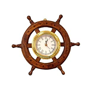 41sXbOs4goL._SS300_ Best Ship Wheel Clocks