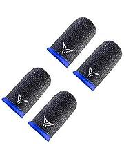 قفازات الجيل الثاني الاحترافية المقاومة للعرق لجهاز التحكم بالالعاب المحمولة بشاشة تعمل باللمس غطاء الاصابع واصبع الابهام (4 قطع)