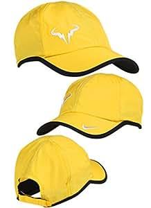 Rafael Nadal Vamos Bull Nike Dri Fit de tenis gorra caña para pescar con mosca amarillo/blanco