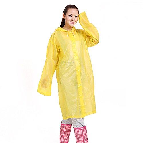 ezyoutdoor Waterproof Bicycle Emergency Disposable Raincoat Adult Women Man Unisex Emergency Windbreaker Waterproof Poncho Travel Camping Lightweight Rain Coat Random Color (Pack of 5 Pieces)
