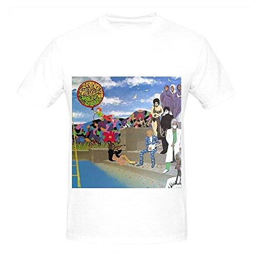 Prince Around The World In A Day Soul Album Men O Neck Design T Shirt White