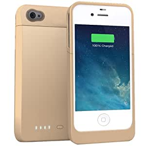 UNU Power DX External Protective Battery Case for iPhone 4s/4 - Retail Packaging - Gold