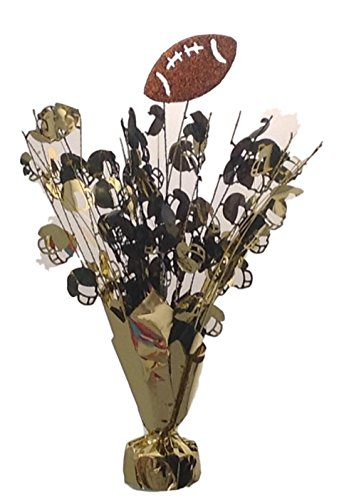 2 Football Centerpiece balloon weights 15
