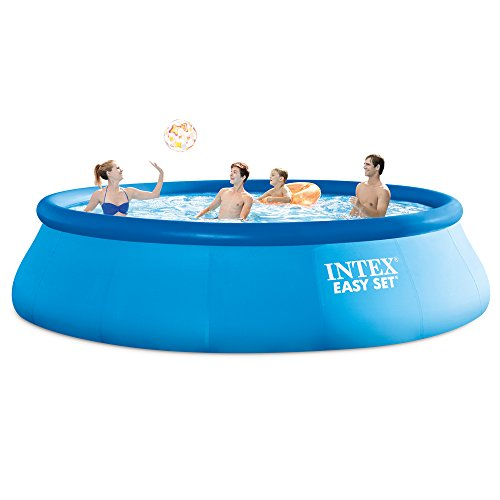Intex 15ft X 42in Easy Set Pool Set with Filter Pump, Ladder, Ground Cloth & Pool ()
