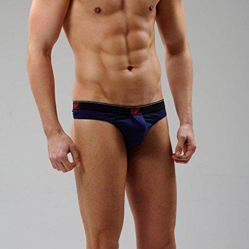 Honghu Solid Color Coton Slip Homme Size S Bleu