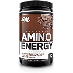 Optimum Nutrition Amino Energy with Green Tea and Green Coffee Extract, Flavor: Iced Mocha Cappucino, 30 Servings