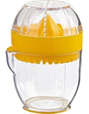 Trudeau Citrus Juicer, Compact and Convenient All-in-One Tool Includes an Integrated Strainer and a Calibrated Container with Pouring Spout, BPA Free, Dishwasher Safe