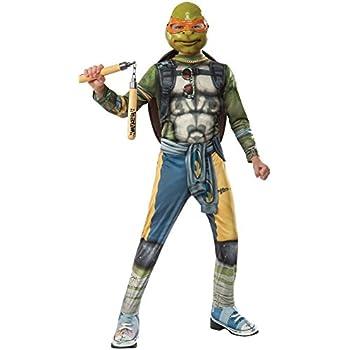 Rubies Costume Kids Teenage Mutant Ninja Turtles 2 Value Michelangelo Costume, Small