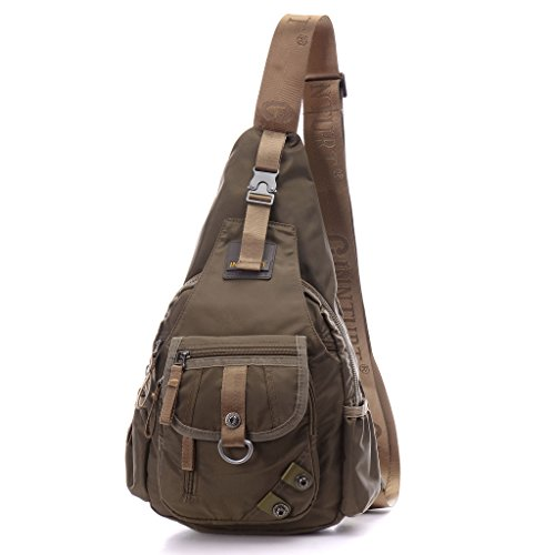 DDDH Sling Bag Shoulder Backpack Chest Pack Military Crossbody Bags For Man Women(Army green)