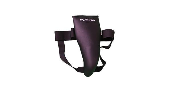 Playwell Artes Marciales Acolchado Poliuretano Protector Ingle Negro Diseño Fino: Amazon.es: Deportes y aire libre