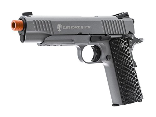 Elite Force 1911 Tactical; Grey CO2 Powered Airsoft Pistol by Elite Force