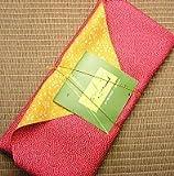 Refined tea gift set of furoshiki wrapping [Zhu] Kagoshima tea