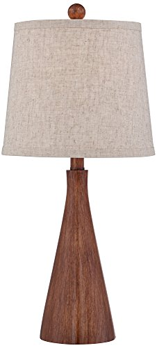 Wood Base Table Lamp - Fraiser Modern Cone Table Lamp by 360 Lighting