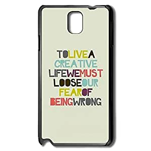Samsung Note 3 Cases Sayings Design Hard Back Cover Proctector Desgined By RRG2G
