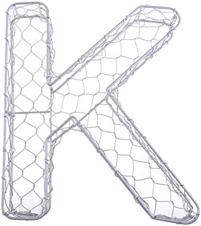 NATFUR LetterNumber Wall Art Metal Iron Frame Wire Wreath Metal Planter Craft DIY   Size - K / NATFUR LetterNumber Wall Art Metal Iron Frame Wire Wreath Metal Planter Craft DIY   Size - K