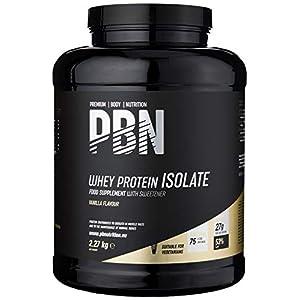 PBN – Premium Body Nutrition – Protéines en poudre à base d'isolat de lactosérum (Whey-ISOLAT), goût vanille, 75 doses…