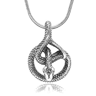 Amazon 925 sterling silver detailed coil cobra snake animal 925 sterling silver detailed coil cobra snake animal lovers pendant necklace 18 inches aloadofball Choice Image