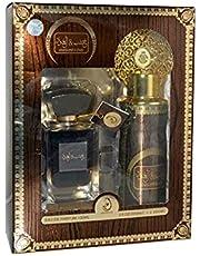 Oud wood gift set, with a capacity of 100 ml, Eau de Parfum / and deodorant, with a capacity of 200 ml